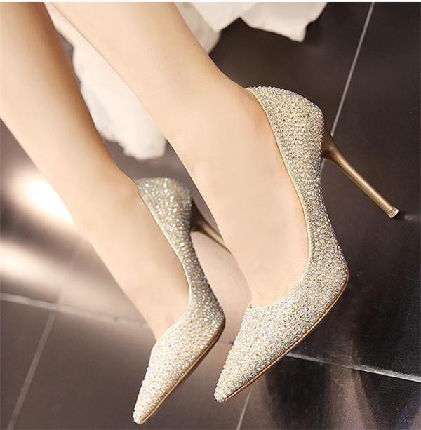 レディースシューズ 靴 ウェディングシューズ ブライダルシューズ パーティーシューズ ハイヒール パンプス 大きいサイズ 小さいサイズ ポインテッドトゥ 結婚式 フォーマルゴルード シルバー キラキラ dl041l6CErdQBeWxo