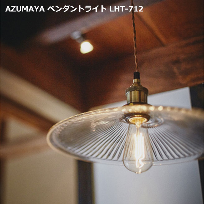 AZUMAYA インダストリアルデザイン LHT-712 電球付属 ペンダントランプ 天井照明 LED電球対応可能 [直送品]