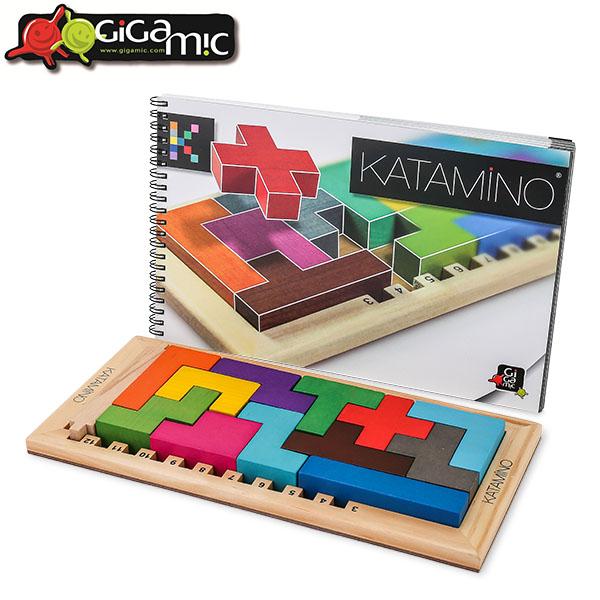 あす楽 365日休まず出荷 ギガミック カタミノ 木製パズル 脳トレ お気に入り 知育玩具 200102 記念日 ボードゲーム 人気 子供 152501 Gigamic Katamino 知育玩