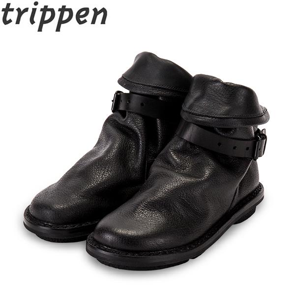 [全品最大15%OFFクーポン]Trippen トリッペン Bomb ボム buf レザーショートブーツ black ブラック [glv15]