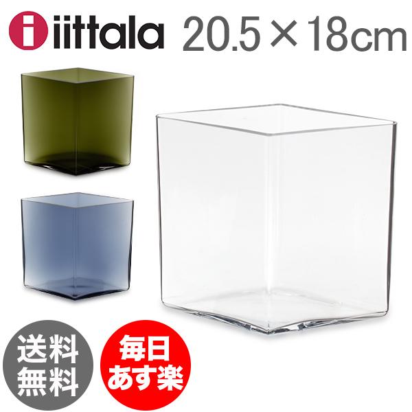 イッタラ Iittala ルーツ ベース Ruutu Vase 花瓶 20.5×18cm インテリア ガラス 北欧 フィンランド シンプル おしゃれ 雑貨 新生活 [glv15]