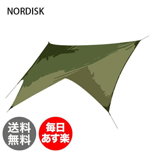 ノルディスク NORDISK タープ ヴォス ダイヤモンド PU 127009 ダスティーグリーン Voss Diamond Dusty Green incl. guy-ropes キャンプ テント 雨よけ 日よけ [glv15]