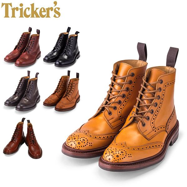 トリッカーズ Tricker's カントリーブーツ ダイナイトソール ウィングチップ 5634 メンズ ブーツ ブローグシューズ レザー 本革 [glv15]