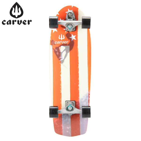 [全品最大15%OFFクーポン]Carver Skateboards カーバースケートボード C7 Complete 30.75 Amber Flag アンバーフラッグ [glv15]