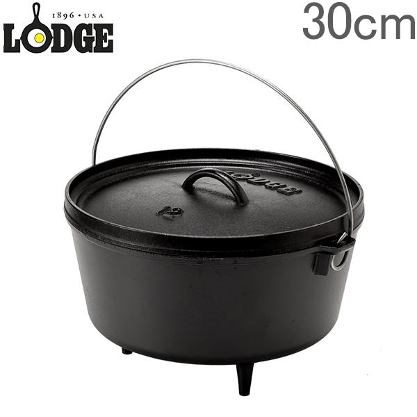 ロッジ ロジック キャンプオーブン 30 × 13cm 300 × 130mm ディープ アウトドア インチ キッチン 調理器具 L12DCO3 Lodge Logic Camp Dutch Oven [glv15]