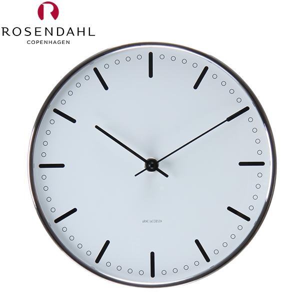 Rosendahl ローゼンダール アルネ・ヤコブセン シティホール 掛け時計 Arne Jacobsen AJ City Hall Clock 210, white 43631 [glv15] あす楽