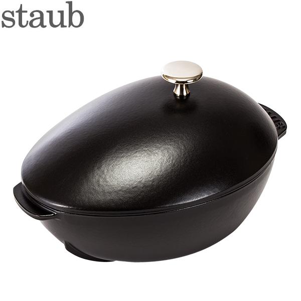 [全品最大15%OFFクーポン]ストウブ 鍋 Staub 鍋 ムールポット ノブ付き 40509-494-0 / 1102523 ブラック Mur pot Black ムール貝 [glv15]