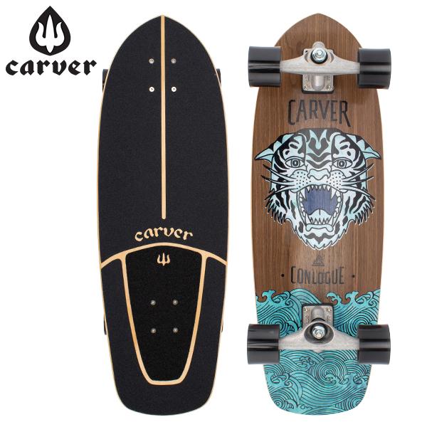 [全品最大15%OFFクーポン]カーバー スケートボード Carver Skateboards スケボー CX コンプリート 29.5インチ コンローグ シー タイガー Conologue Sea Tiger [glv15]