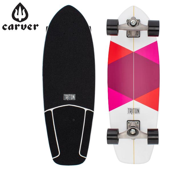 [全品最大15%OFFクーポン]カーバー スケートボード Carver Skateboards スケボー CX コンプリート 29インチ トリトン レッド ダイアモンド Triton Red Diamond [glv15]