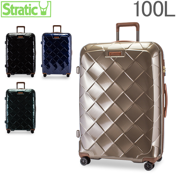 [全品最大15%OFFクーポン]ストラティック Stratic スーツケース 100L Lサイズレザー & モア 3-9894-75 LEATHER & MORE 軽量 本革 キャリーバッグ キャリーケース L 4DW TSA [glv15]