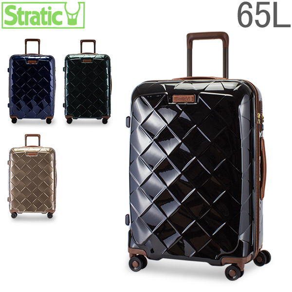 [全品最大15%OFFクーポン]ストラティック Stratic スーツケース 65L Mサイズレザー & モア 3-9894-65 LEATHER & MORE 軽量 本革 キャリーバッグ キャリーケース M 4DW TSA [glv15]