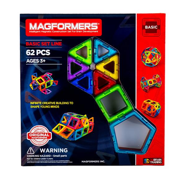 [全品最大15%OFFクーポン]マグフォーマー おもちゃ 62ピース 知育玩具 キッズ アメリカ 面白い 子供 Magformers 空間認識 展開図  [glv15]