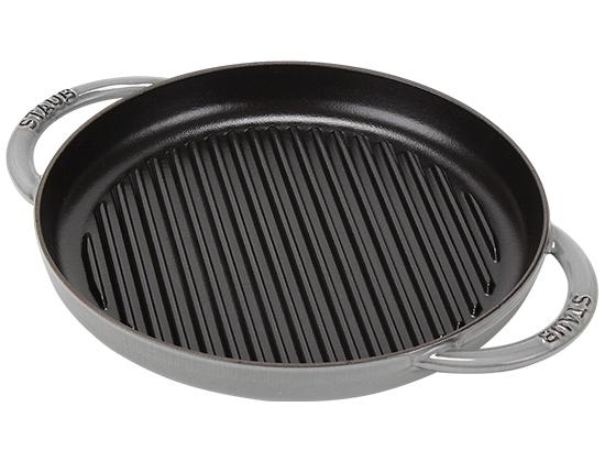 ストウブ Staub グリルパン 30cm ピュアグリル 120130 Grill Round 2 Handles ステーキ バーベキュー BBQ 焼肉 鉄板 新生活 [glv15]