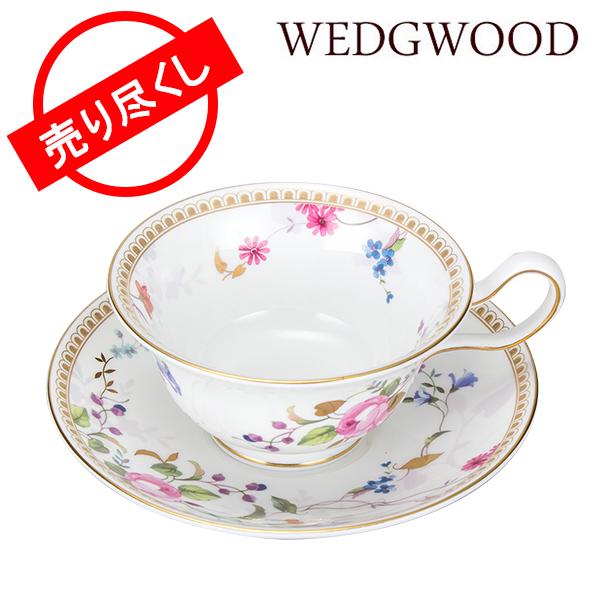 【最大5%OFFクーポン】赤字売切り価格 ウェッジウッド WEDGWOOD ローズゴールド ティーカップ&ソーサー (ピオニー) 5C111004065/5C111002001 ROSE GOLD Teacup Peony & Tea Saucer 新生活