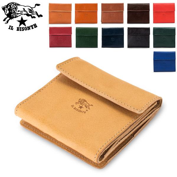 イルビゾンテ Il Bisonte 二つ折り財布 ウォレット C0455 PORTAFOGLIO P 財布 レザー 革 5%還元 あす楽