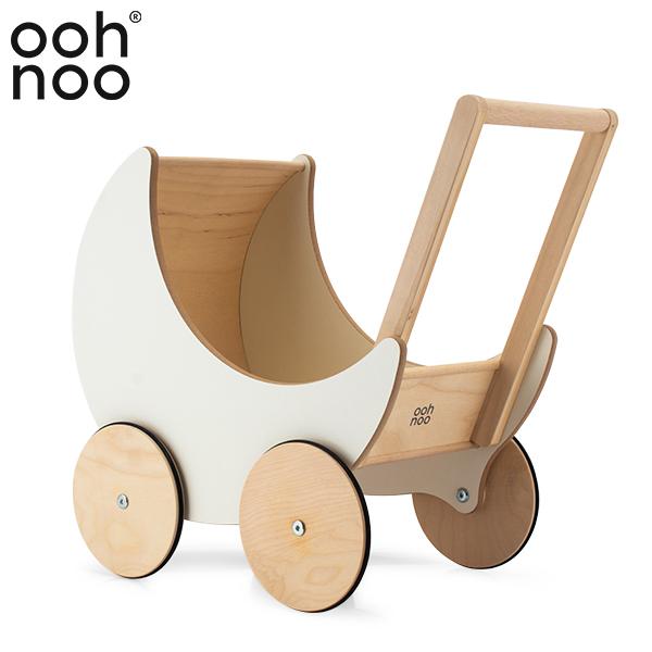 【あす楽】 オーノー ooh noo 手押し車 赤ちゃん おもちゃ 木製 Toy Pram トイプラム White TP1501 玩具 男の子 女の子 プレゼント ギフト【5%還元】
