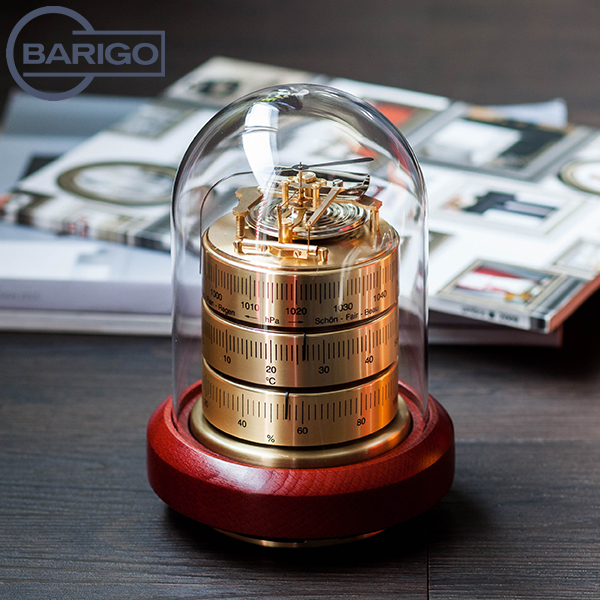 【最大200円OFFクーポン 4/16,01:59まで】Barigo バリゴ Country Home カントリーホーム Baro-Thermo-Hygrometer 温湿気圧計 (ゴールド) Goldred ゴールドレッド 3026 インドア ヘルスケアインテリア