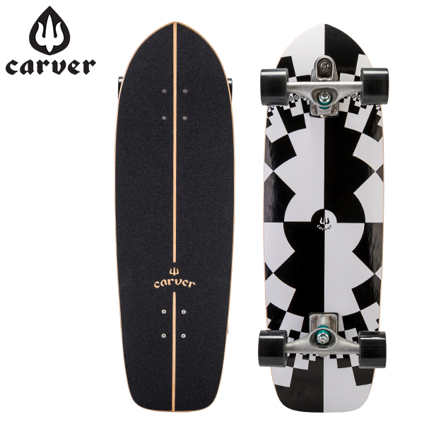 【最大200円OFFクーポン 4/16,01:59まで】Carver Skateboards カーバースケートボード C7 Complete 32 Fraktal フラクタル