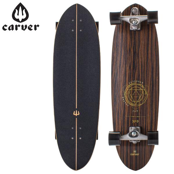 【エントリーで最大P5倍 8/23 23:59迄】カーバースケートボード Carver Skateboards C7トラック 35インチ Haedron No.9 ヒードロン コンプリート BDCC7235HN9 サーフスケート サーフィン