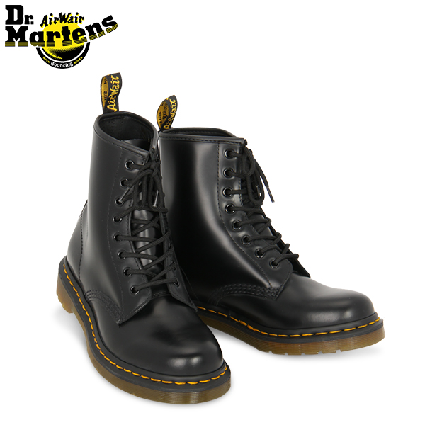 newest f2e74 1d8d4 Doctor Martin Dr.Martens 8 hall 1460 Lady's boots R11821006 8 Eye Boot  black Black eight hall leather Iconic Womens