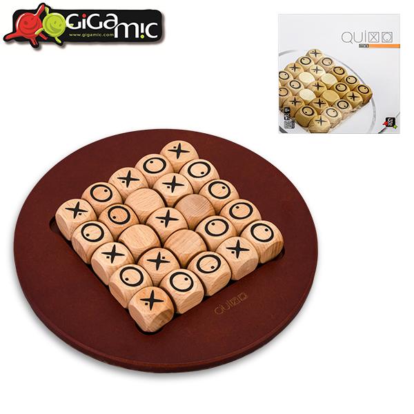 365日あす楽対応 ギガミック ボードゲーム フランス 子供から大人まで楽しめる 五目並べ 頭脳ゲーム 持ち運び 携帯 木製 プレゼント 開店祝い ギフト ゲーム 3.421271.300854 GDQI MINI ミニ おもちゃ あす楽 QUIXO 海外限定 クイキシオ 脳トレ Gigamic テーブルゲーム