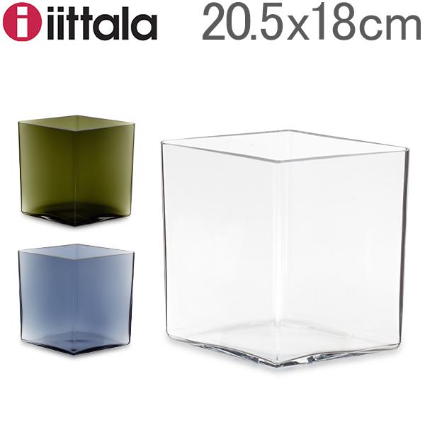 イッタラ Iittala ルーツ ベース Ruutu Vase 花瓶 20.5×18cm インテリア ガラス 北欧 フィンランド シンプル おしゃれ 雑貨 新生活