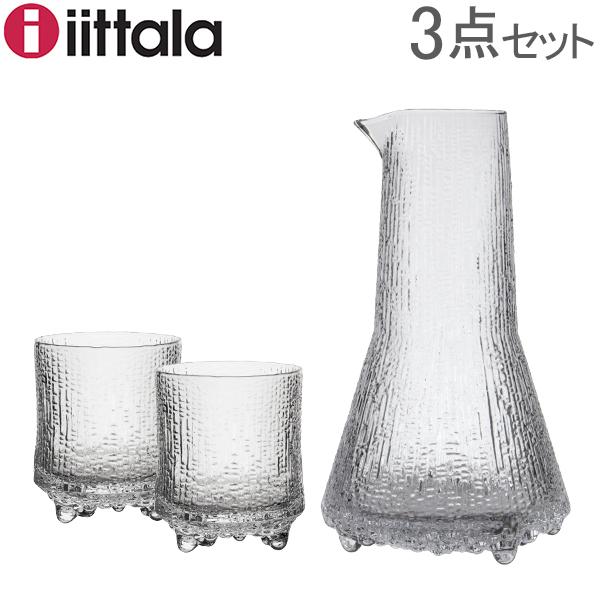 イッタラ iittala ウルティマツーレ カラフェ & オールドファッション 200mL グラス 2個セット 1025381 クリア Ultima Thule
