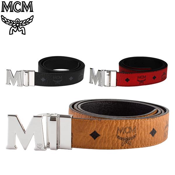 MCM エムシーエム リバーシブル ベルト メンズ フリーサイズ MXB6AVI02 MEN'S BELT VISETOS リバーシブルベルト カット調整可