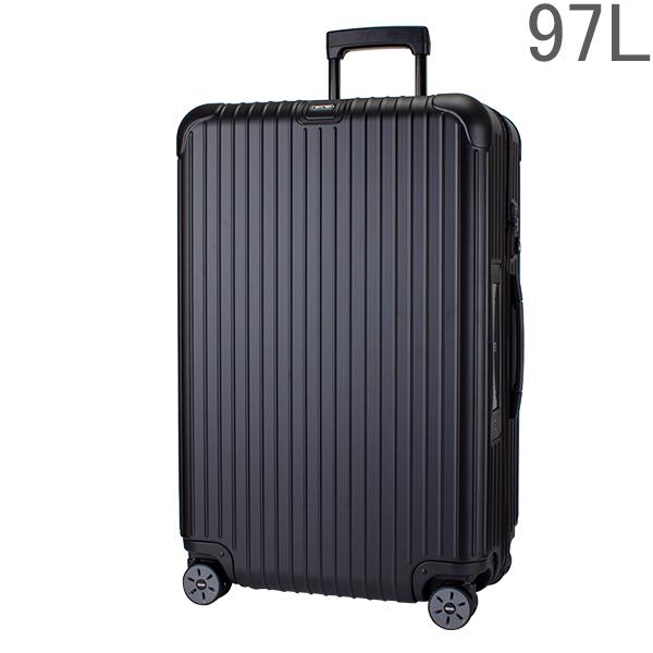 【ポイント2倍 4/16,01:59まで】リモワ RIMOWAサルサ 811.77.32.5 マルチホイール 4輪 スーツケース ブラック MULTIWHEEL 97L 電子タグ 【E-Tag】