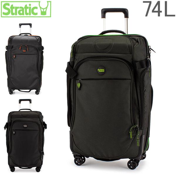 【最大200円OFFクーポン 4/16,01:59まで】ストラティック Stratic スーツケース 74L Mサイズ リラックス 2 4輪 3-9848-65 Relax 2 軽量 キャリーバッグ ソフト 旅行 Mover M 4R TSA