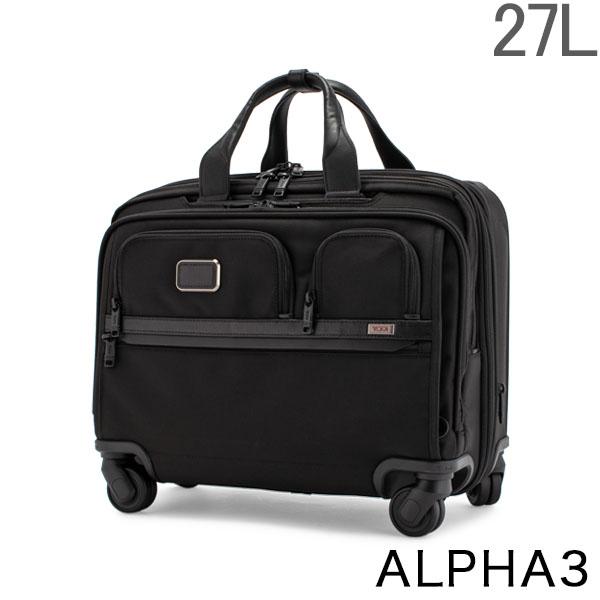 トゥミ TUMI キャリーケース 27L ALPHA 3 デラックス 4ウィール ラップトップ ケース ブリーフ アルファ 3 1171581041 ブラック Black 5%還元