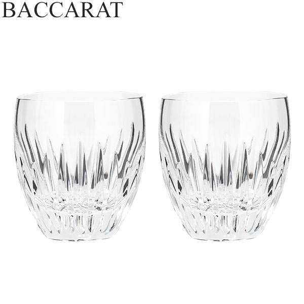 【5%還元】【あす楽】バカラ マッセナ タンブラー 2個セット グラス ガラス 洋食器 クリア 2810592 Baccarat MASSENA TUMBLER 3