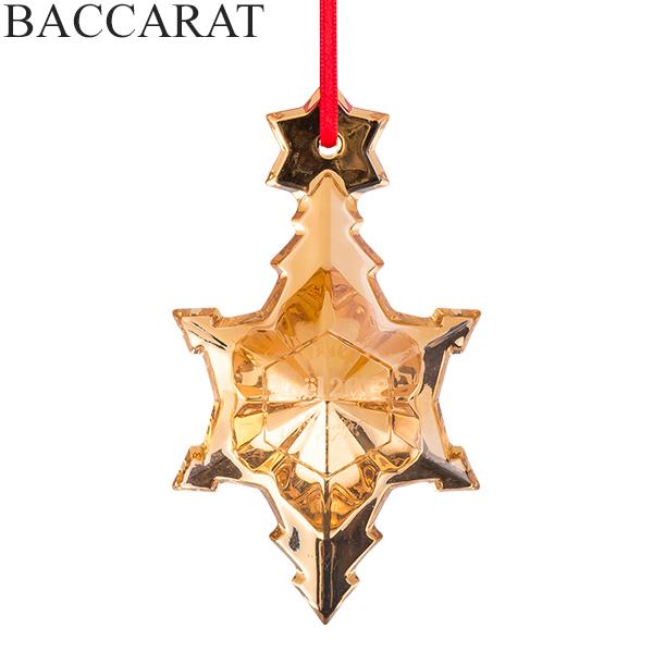 【5%還元】【あす楽】バカラ Baccarat クリスマスオーナメント ノエル ゴールド 雪の結晶 クリスタル クリスマス 2811538 Noel Ornament
