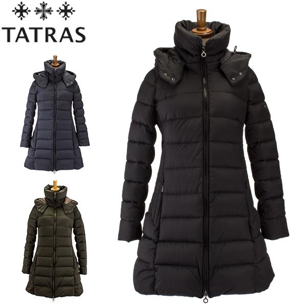 タトラス TATRAS ダウンコート レディース セミロング フード取り外し可 アウター マット POLITEAMA ポリテアマ LTA18A4496 / LTA19A4694