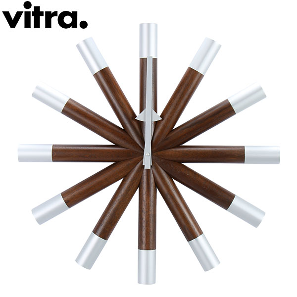 Vitra ヴィトラ Wall Clocks ウォール クロック 壁掛け 時計 Wheel Clock Walnut ウォールナット 201 619 01