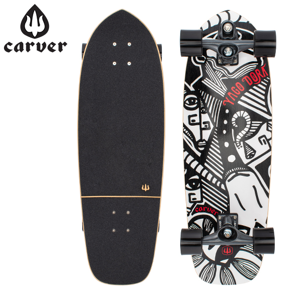 【5%還元】【あす楽】カーバー スケートボード Carver Skateboards スケボー C7 コンプリート 30.75インチ ヤゴ スキニーゴート Yago Skinny Goat Complete