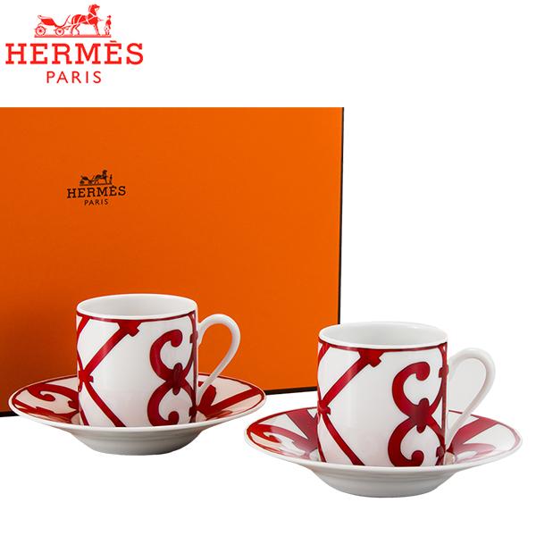【5%還元】【あす楽】Hermes エルメス ガダルキヴィール Coffee cup and saucer コーヒーカップ&ソーサー 100mL 011017P 2個セット