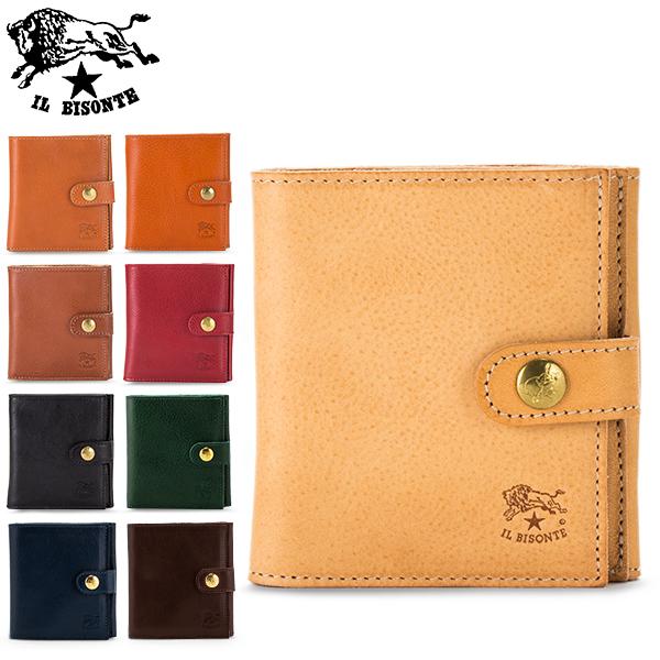 【あす楽】 イルビゾンテ Il Bisonte 二つ折り財布 ウォレット C0955 PORTAFOGLIO P 財布 レザー 革【5%還元】