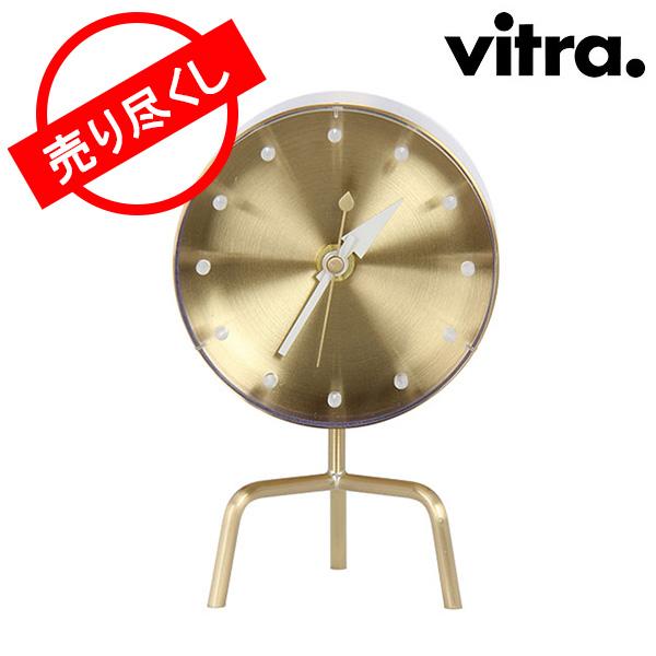 【赤字売切り価格】Vitra ヴィトラ Desk Clocks デスク クロック 時計 Tripod Clock Brass ブラス (215 020 01) 215 020 01 アウトレット