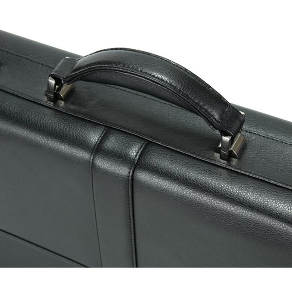 Samsonite Flapover Leather Business Case Black  43120-1041