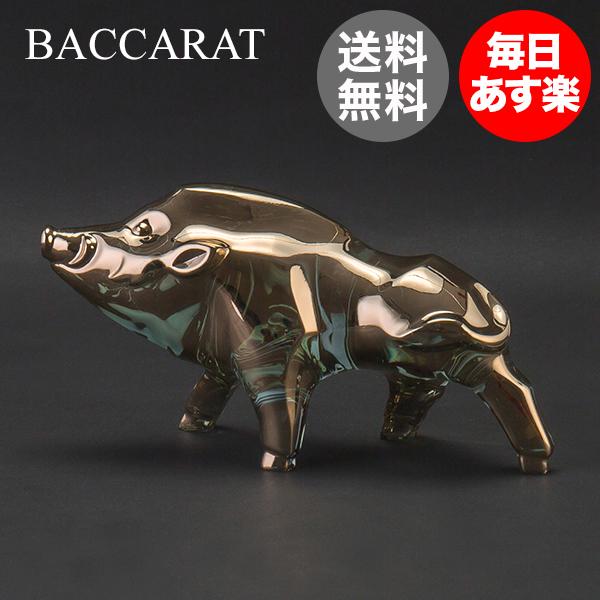 バカラ Baccarat 置物 オーナメント 千支 オブジェ 亥 (猪) ゴールド ZODIAQUE BOAR 2019 (2812401) クリスタル ガラス インテリア デコレーション 新生活