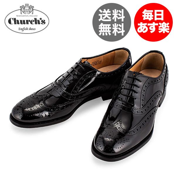 チャーチ Church's レディース レザーシューズ Burwood 3W バーウッド ウィングチップ レースアップ オックスフォードシューズ DE0032 ブラック Leather Black