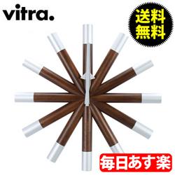 【3%OFFクーポン】Vitra ヴィトラ Wall Clocks ウォール クロック 壁掛け 時計 Wheel Clock Walnut ウォールナット 201 619 01