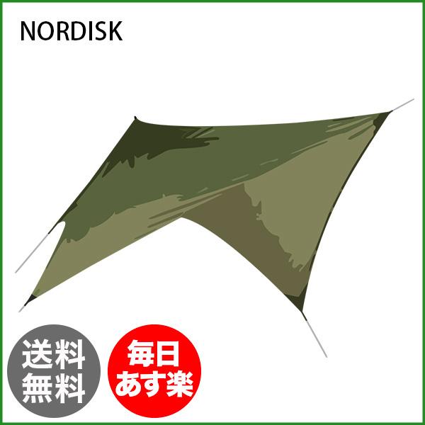 【全品3%OFFクーポン】ノルディスク NORDISK タープ ヴォス ダイヤモンド PU 127009 ダスティーグリーン Voss Diamond Dusty Green incl. guy-ropes キャンプ テント 雨よけ 日よけ