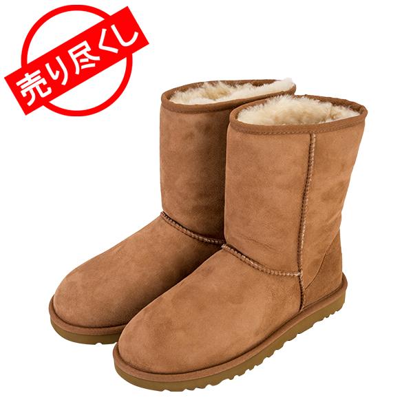 【赤字売切り価格】UGG アグ ムートン ブーツ メンズ クラシックショート Classic Short 5800 チェスナット Chestnut (25cm) ヘリテージ コレクション Men's 靴 シューズ