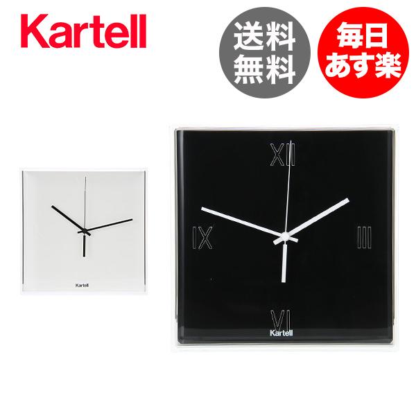 カルテル 時計 ティックタック 30 × 8 × 30cm 300 × 80 × 300mm EU正規品 クロック 壁掛 オブジェ インテリア 海外製 お洒落 TIC-1900 Kartell Tic Tac Clock Matte