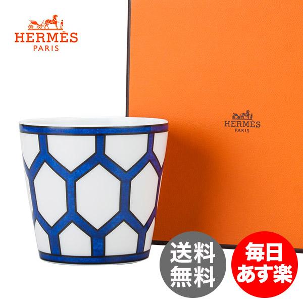 エルメス HERMES ブルーダイユール キャンドルホルダー キャンドルカップ 130059P ホワイト/ブルー Bleu dAilleurs Candle tumbler インテリア 新生活