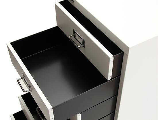 引き出し 収納 112 ベーシック マルチ収納ケース [全品送料無料] 6段 Matte Surface ビスレー BISLEY BA B3/6 non-locking オフィス (6)