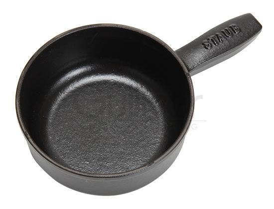 ストウブ Staub ミニフォンデュポットラウンド Mini Fondue Pot Round 12cm Black ブラック 1461223 ディッシュプレート 新生活