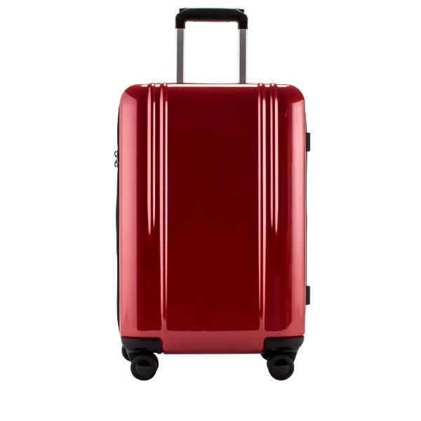 The Set of Classic Burgundy Tasca Moderna 3 Piece Hardside Spinner Luggage Set